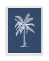 Framed Palm Tree  Print - Blue Series V | Bank and Surf