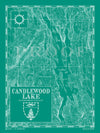 Map of Candlewood Lake, CT