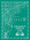 Map of Coconut Grove, FL