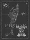 Map of Cumberland Island, GA