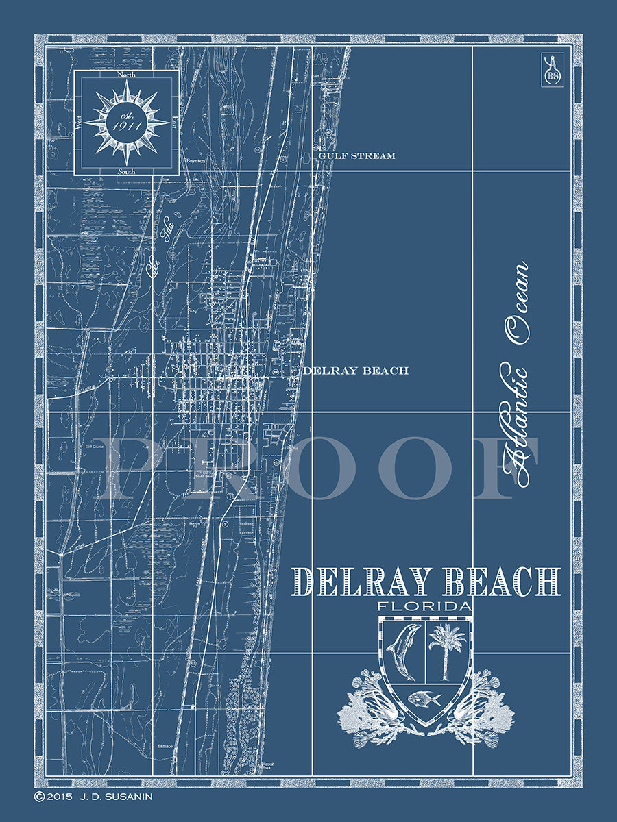 Map of Delray Beach, FL | Custom maps | Bank and Surf Delray Beach Fl Map on