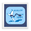 Framed Avalon Beach Tag - 1991