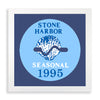 Framed Stone Harbor Beach Tag - 1995
