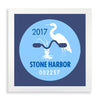 Framed Stone Harbor Beach Tag - 2017