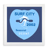 Framed Surf City Beach Tag - 2002