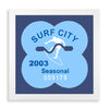 Framed Surf City Beach Tag - 2003