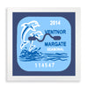 Framed Ventnor-Margate Beach Tag - 2014