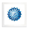 Framed Coral Print - Blue Series IV