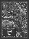 Map of Georgetown D.C.