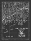 Map of Greenwich, CT (Vertical)