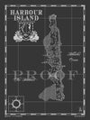 Map of Harbour Island, Bahamas