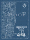 Map of Hillsboro Beach, FL