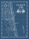 Map of Jax Beach, FL