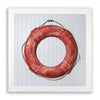 Framed Life Preserver on Beadboard - Red