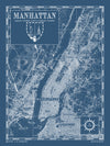 Map of Manhattan, NY