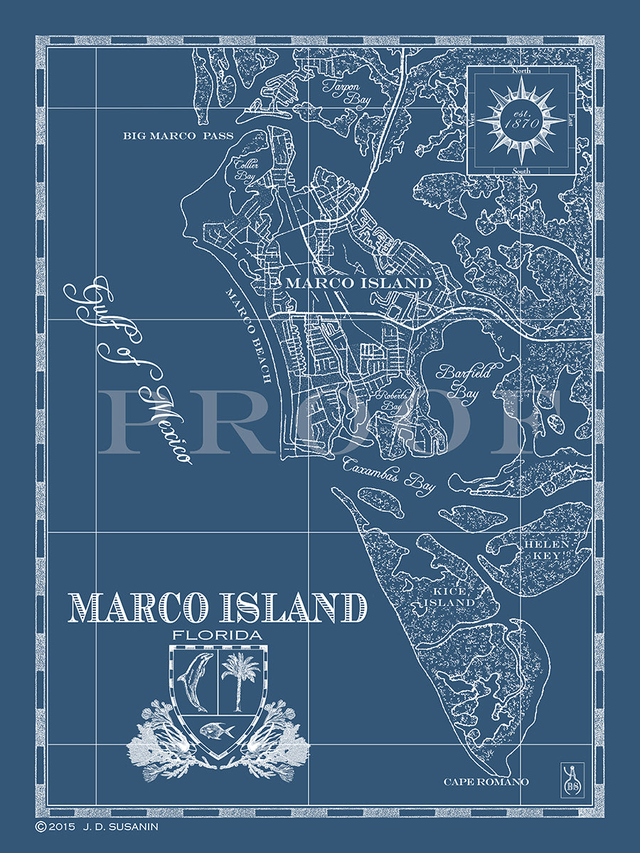 Map Of Marco Island Florida.Map Of Marco Island Fl Custom Maps Bank Surf Bank And Surf