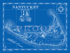 Map of Nantucket Island, MA