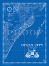 Map of Ocean City, NJ  (vertical)