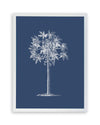 Framed Palm Tree  Print - Blue Series I