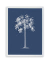 Framed Palm Tree  Print - Blue Series II