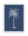Framed Palm Tree  Print - Blue Series III