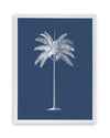 Framed Palm Tree  Print - Blue Series IV