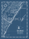 Map of the Yacht Club of Sea Isle City, NJ