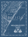 Map of Sea Isle City, NJ (Vertical)