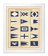 Framed Yacht Signals and Club Flags II