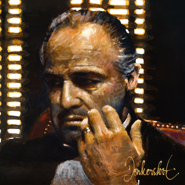 Don Corleone,The Godfather,Marlon Brando by Peter Donkersloot