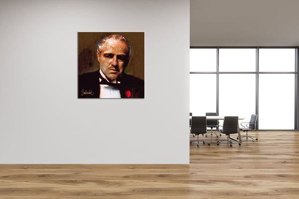Schilderij The Godfather in office space, kantoor ruimte ,bedrijf