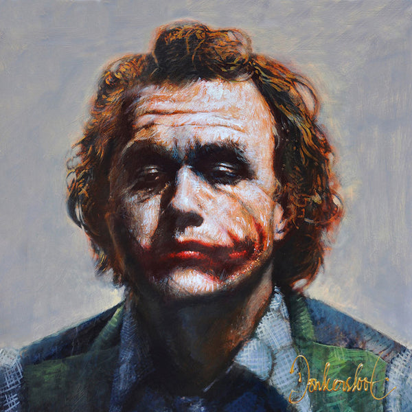 The Joker, Heath Ledger Portret Schilderij Peter Donkersloot