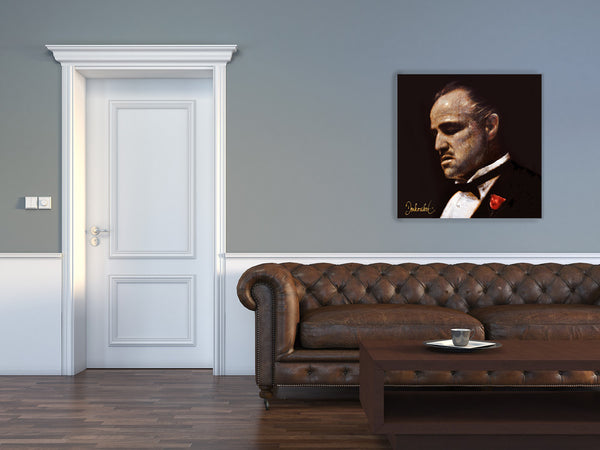 schilderij The Godfather, The Don in trendy huiskamer
