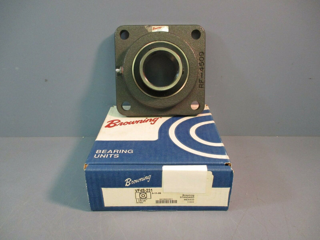 "Browning Flange Block Bearing VF4S-231 1-15/16"" Shaft NEW IN BOX"