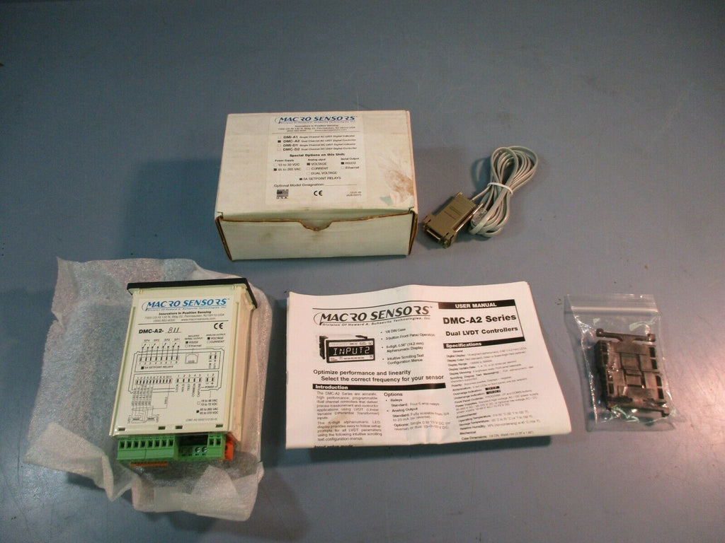 Macro Sensors Dual Channel AC LVDT Digital Controller DMC-A2 NEW IN BOX