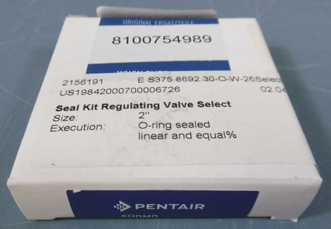*NIB* Pentair Suedmo Seal Kit Regulating Valve Select: 2156191, 2""