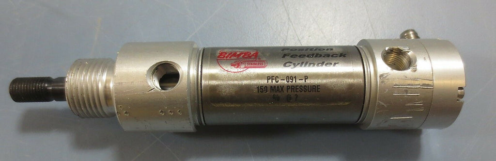 "Bimba Position Feedback Cylinder PFC-091-P 1"" Stroke 1-1/16"" Bore 150 Max Press."