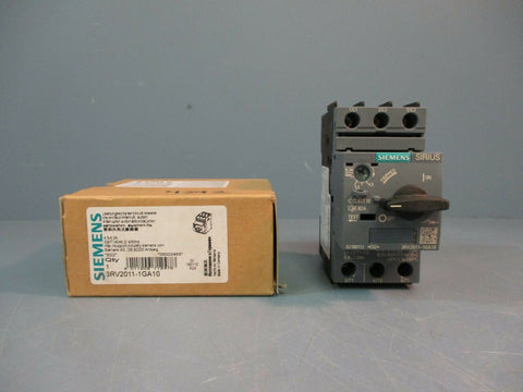 Siemens Motor Protector Circuit Breaker 3RV2011-1GA10 NEW IN BOX