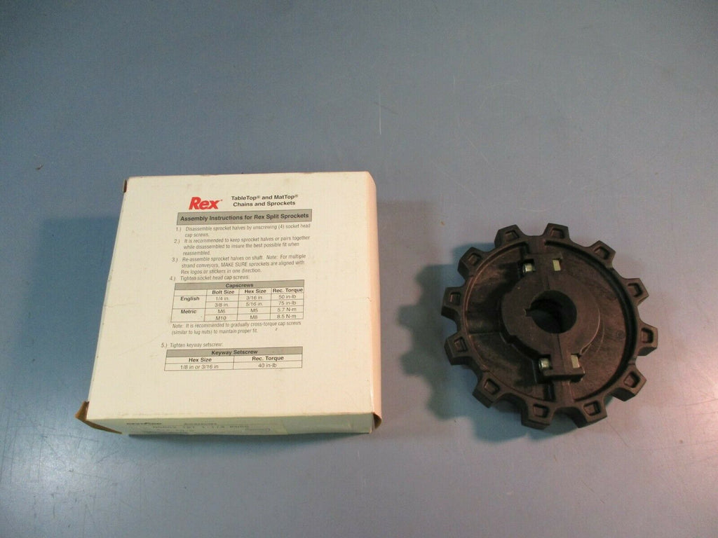 Rexnord TableTop Split Sprocket NS882-12T 1-1/4 KWSS 614-29-3 NEW IN BOX