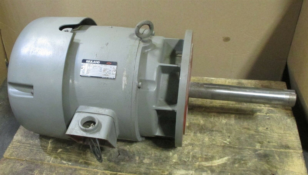 Reuland Type COTO 0075E-1BAN-0070 3 Ph 7.5 HP Motor 1200 RPM, 284UDZ, 460 V Used