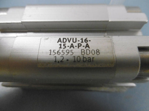 1 New Festo ADVU-16-15-A-P-A Double Acting Air Cylinder 16 mm Bore 15 mm Stroke