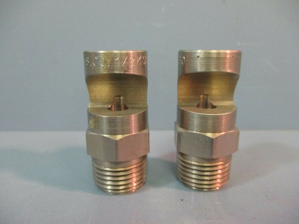 SPRAYING SYSTEMS CO Spray Nozzle Flood Jet 1/2K-SS80 LOT OF TWO