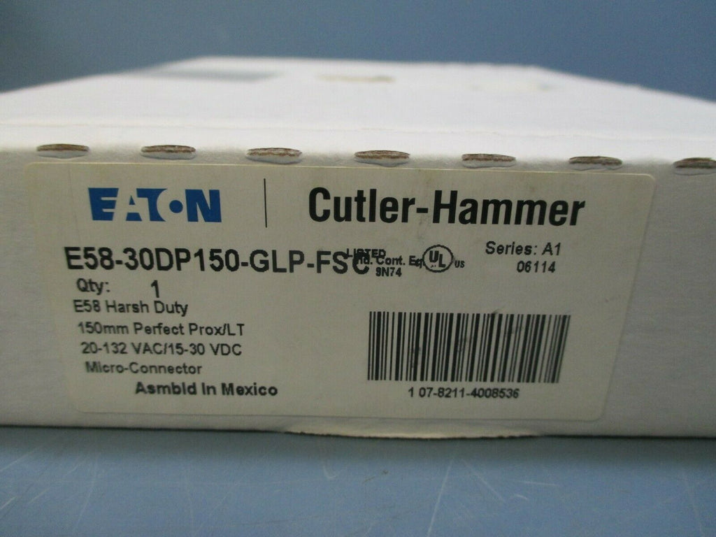 Eaton Cutler-Hammer Harsh Duty Photoelectric Sensor E58-30DP150-GLP-FSC