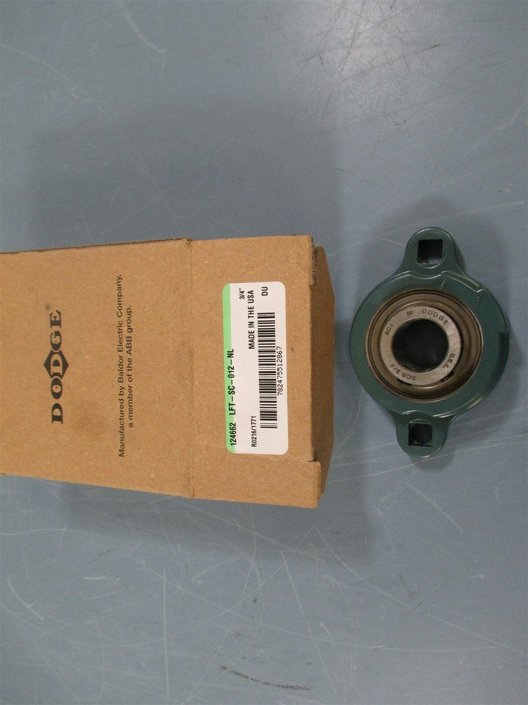 "Dodge LFT-SC-012-NL 3/4"" Bore 2 Bolt Flange Block Bearing - New"