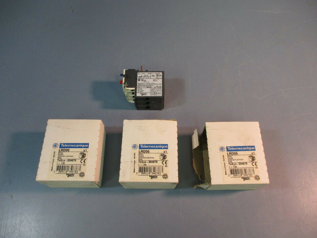 Telemecanique/Schneider Overload Relay LRD06 1-1.6AMP NEW LOT OF 3
