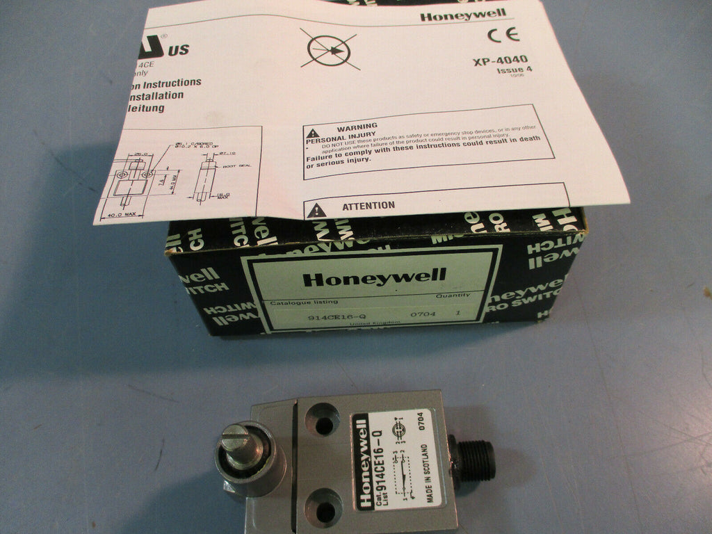 Honeywell 914CE16-Q Limit Switch Side Rotary Snap Action