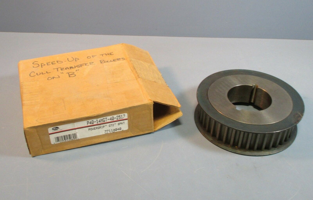 Gates P40-14MGT-40-2517 GT2 PowerGrip Taper Lock Sprocket 3670 Max RPM NOS