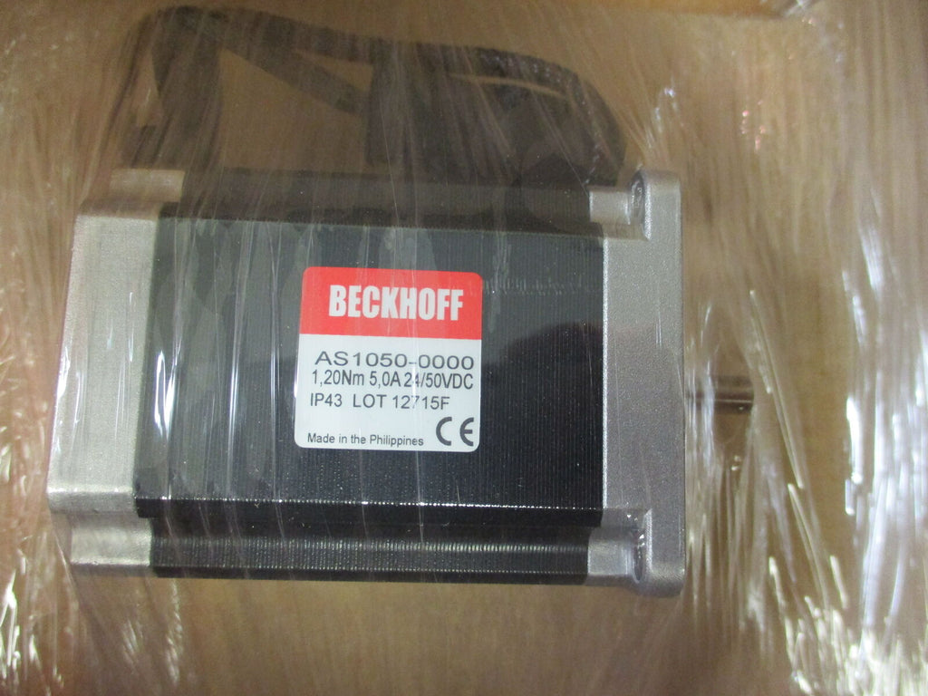 NIB Beckoff AS1050-0000 Stepper Motor Multiphase 1.20Nm 5.0A 24/50VDC