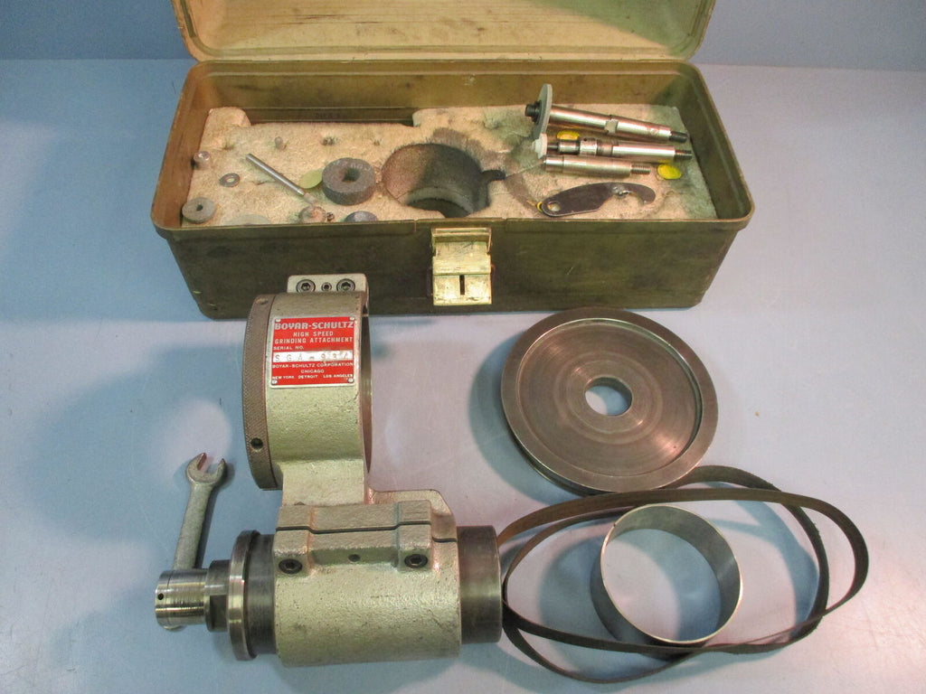 Used Boyar Schultz High Speed Grinding Attachment Kit + Box