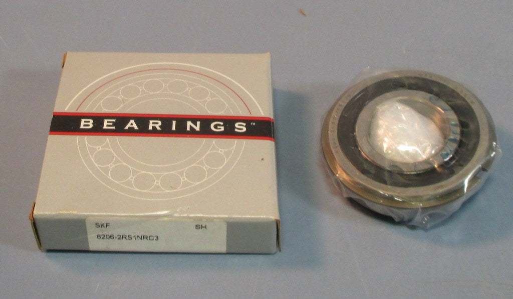SKF 6206-2RS1NRC3 Snap Ring Sealed Bearing 30mm ID, 62mm OD, 16mm Wide NIB